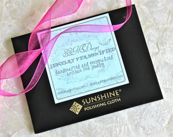 "Sunshine Polishing Cloth 4"" x 5"" - Ready to Ship"