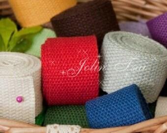 2Yards Cotton Canvas Fabric Cloth Bag Ribbon -DIY Cloth Art Manual Canvas Cloth Bag Ribbon 3.2 cm Wide