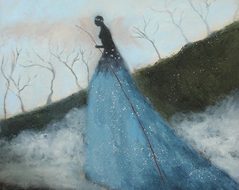 Again Toward Morning, 12x12 inch GICLEE print from an original oil painting