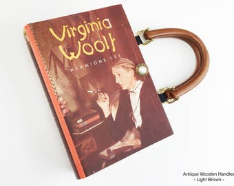 Virginia Woolf Book Purse - Virginia Woolf Recycled Book - Purse made from a Book Purse - Literary Book Cover Handbag - Writer Gift