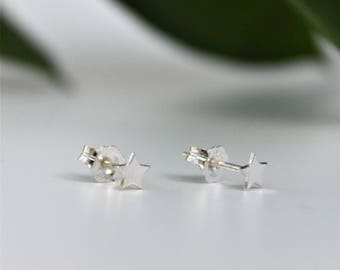Sterling Silver Star Earrings, silver star earrings, tiny star studs, star jewellery, gift for her, Christmas, Thank you Gift, bridal