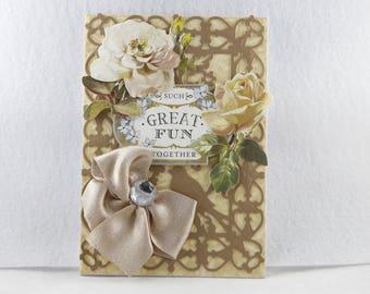 anniversary card, 50th anniversary card, handmade anniversary card, anniversary greeting card