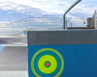 giclee print - street art photo - bondi beach skate park - portals of hope