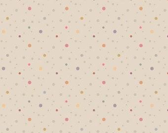 Marcus Nancy Rink On Plumberry Lane Beige  Lavender Tan Dot Fabric 2279-0158 BTY
