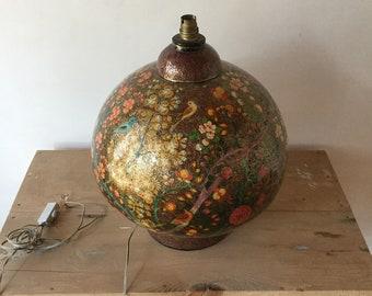 Kashmir Antique Handpainted papier Mache lamp