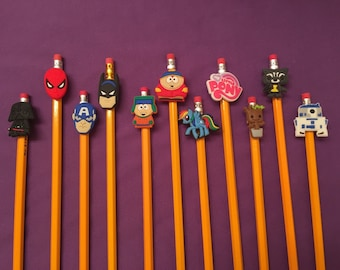 Pencil Toppers - Guardians of the Galaxy, Avengers, Star Wars, My Little Pony, South Park