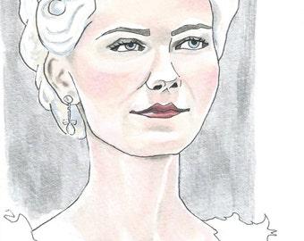 Marie Antoinette - mixed media