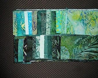 40 PC Set - SARGASSO SEA Cotton Batik Jelly Roll Strips
