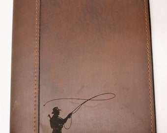 Large Composition Cover, Diary, Notebook, Personalized Engraved Diary, Genuine Leather, business folio
