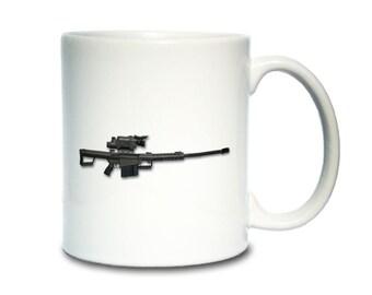 Coffee Mug; M107 M82A1 Long Range Sniper Rifle Barrett M82 Cm1