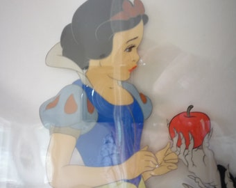 Snow White with Witch - hand painted - Original Limited Edition 59 of 275 - Disney certificate of authenticity 1976 Framed Animation Cel