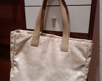 Authentic Chanel Canvas shoulder bag / handbag