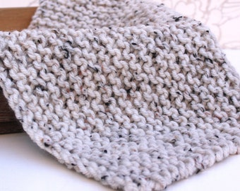 Natural Tweed Mini-Blanket, Tan Wool Knit Blanket, Chunky Tan Layer, Photo Prop, Newborn Photography, Sitter Photo Prop