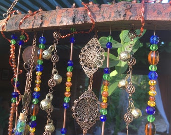 Time for a Chain- wind chime, wall art, outdoor decor, unique wind chime