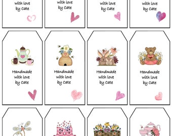 Mix Double Sided Small Gift Tags - PDF FILE ONLY