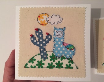 Look at my pom-poms  free motion machine embroidery greeting card