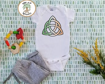 Irish Flag Celtic Knot Onesie