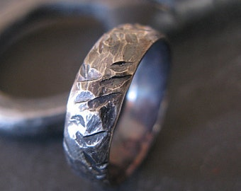 Size 9 Viking Ring Mens Wedding Band Mens Wedding Band Mens Ring Distressed Handmade Artisan Hammered Silver Ring Viking Weddin