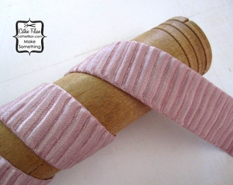 """Whisper Pink Pleated Satin Ribbon - 1"""" wide - 5 yards"""