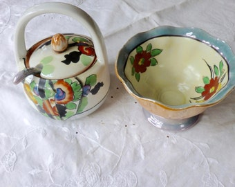Japanese jelly bowls and spoon