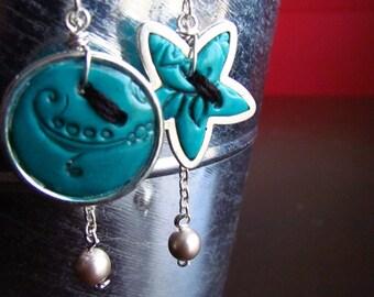 Boucles d'oreille boutons, Buttons earrings