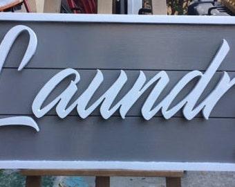 3D Laundry Ship lap Sign