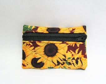 Small pouch- Sunflower cotton print