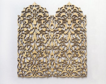 Fantastic Airy Laser cut wood ornamental lace / Wood shapes / Laser cut wood / Wood ornaments / Wood laser cut / Wood decor / Wood charms