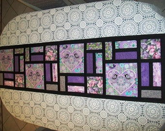 Stained Glass Table runner - pattern by Sew4Fun Australia