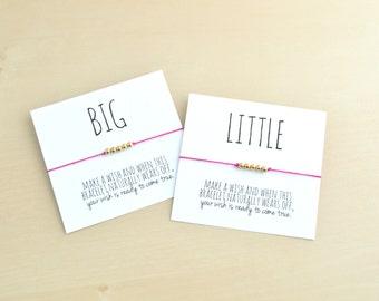 Wish Bracelet- Make a Wish Friendship Bracelet, Personalized Gift, Big Little Sorority, Wishing