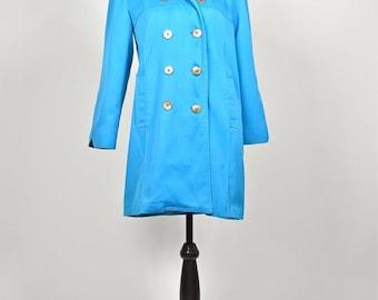 ON SALE Vintage Blue Wear in Good Health1960s Misty Harbor trench coat