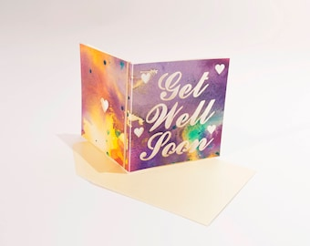 Get Well Soon - Handpainted watercolour greeting card