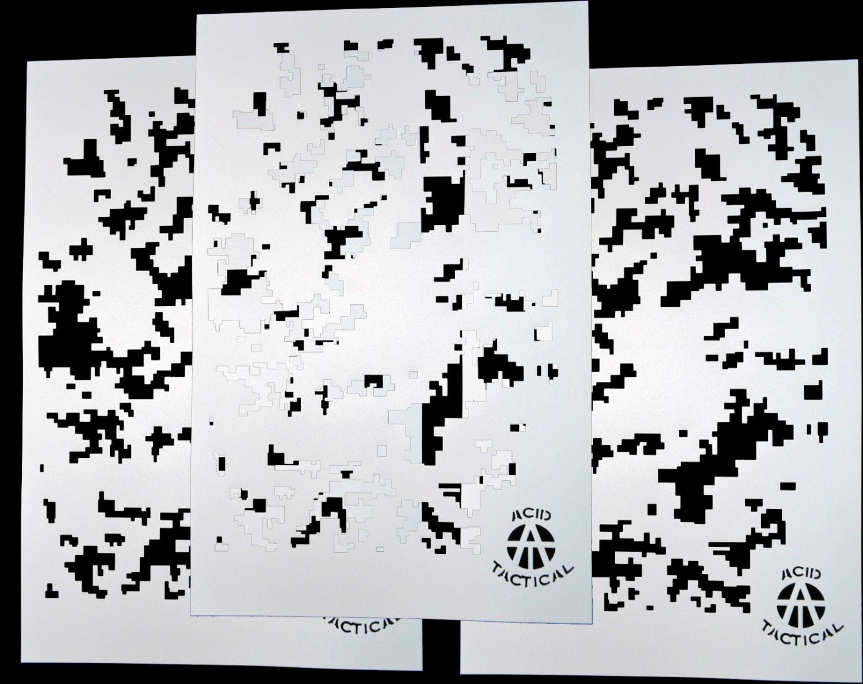 Ácido Tactical® 3 Pack 9 x 14 camuflaje Pintura pared