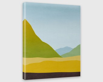 Modern Abstract Art Canvas Print Mountain Wall Art Abstract Landscape Minimalist Poster Living Room Decor
