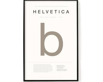"""Helvetica Poster, Screen Printed, Archival Quality, Wall Art, Poster, Designer Gift, Typography Print, 24"""" x 36"""""""
