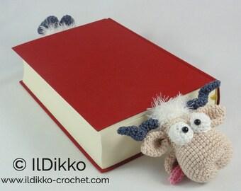 Amigurumi Crochet Pattern - Baarney and Baarn the Sheep Bookmark - English Version