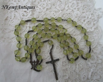 Antique glass rosary 1900 for the collector