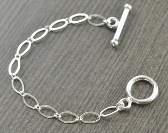Sterling silver necklace extension for Toggle clasp necklaces 4 inches gifts for her