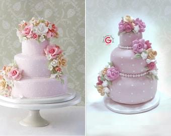 Mini wedding cake replica, wedding cake ornament, first year anniversary gift, mini wedding cake keepsake, first Christmas wedding gift