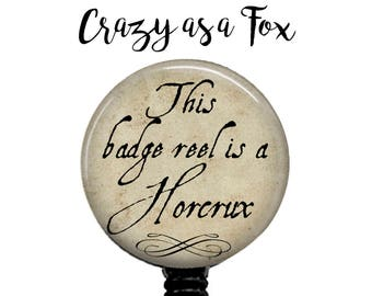 Horcrux Retractable Badge Holder,  Badge Reel, Lanyard, Stethoscope ID Tag, Nurse, RN, Student, Harry Potter inspired