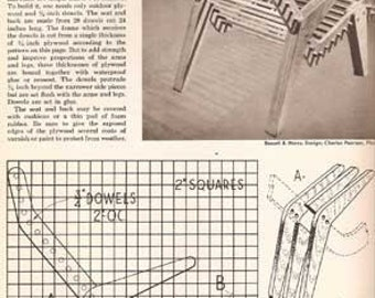 1953 MID CENTURY MODERN How to Build Outdoor Furniture design plans book