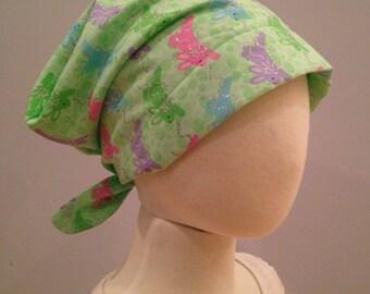 Mia Children's Head Cover, Girl's Cancer Headwear, Chemo Scarf, Alopecia Hat, Head Wrap, Cancer Gift for Hair Loss - Bunnies