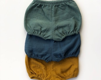 Baby & Toddler Bloomers, Baby Shorts, Muslin Bloomers, Nappy Pants, Nappy Covers, Toddler Shorts