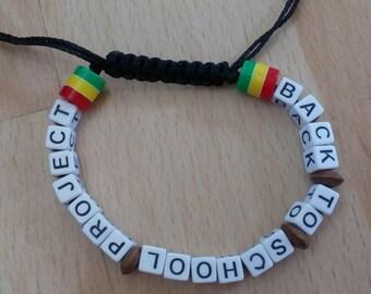 Black Beaded Back to School Project bracelet