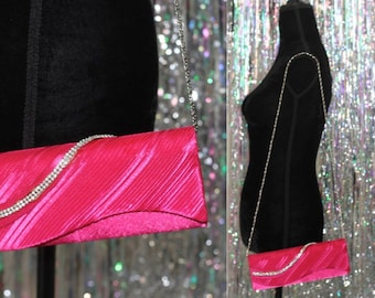 90's Hot Pink Clutch *Excellent Condition