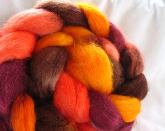 Blue Face Leicester/Tussah Silk Roving (Top) (ABS28)