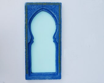 Moorish Mirror in Lapis blue