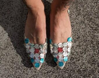 Franco Barrone Space Kitten heels