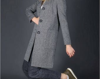Women coat Trench coat women Dress coat Spring coat Atumn Coat Grey coat Free Shipping Women Dress Coat on Sale