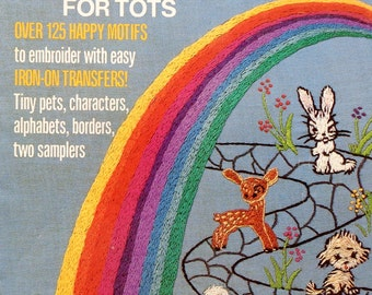 McCall's Iron On Transfers TRANSFERS For TOTS III - Embroidery Needlework Patterns Booklet Uncut Unused